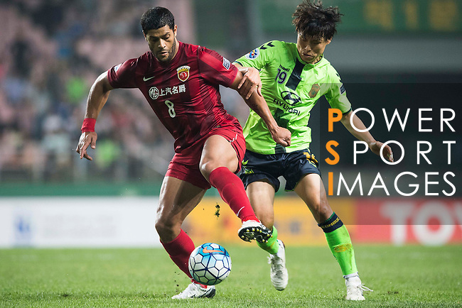 Jeonbuk Hyundai Motors FC (KOR) vs Shanghai SIPG (CHN) during their AFC Champions League Quarter Finals match at Jeonju World Cup Stadium on 13 September 2016, in Jeonju, South Korea. Photo by Victor Fraile / Power Sport Images