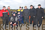 BREAK: Taking abreak from the Abbeydorney Ploughing Competition on Sunday, L-r: Aeneas and Timmy Horan (Castleisland), Padraig and Wayne O'Sullivan (Killarney), Philip Cotter and Seamus Cahill (Abbeydorney), Dave and Fred Easton (Ballybunion).....