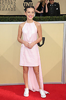 LOS ANGELES, CA - JANUARY 21: Millie Bobby Brown at The 24th Annual Screen Actors Guild Awards held at The Shrine Auditorium in Los Angeles, California on January 21, 2018. Credit: FSRetna/MediaPunch
