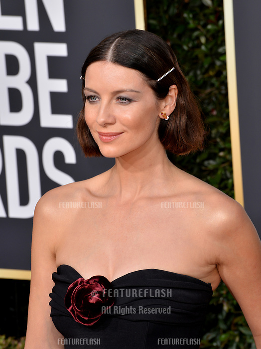 LOS ANGELES, CA. January 06, 2019: Caitriona Balfe at the 2019 Golden Globe Awards at the Beverly Hilton Hotel.<br /> Picture: Paul Smith/Featureflash