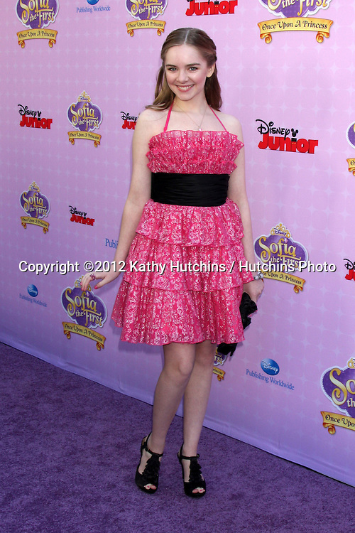 "LOS ANGELES - NOV 10:  Darcy Rose Byrnes arrives at the ""Sofia The First: Once Upon a Princess"" Premiere And Story Book Launch at Walt Disney Studios on November 10, 2012 in Burbank, CA"