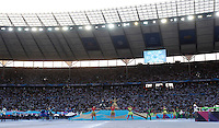Calcio, finale di Champions League Juventus vs Barcellona all'Olympiastadion di Berlino, 6 giugno 2015.<br /> A view of the Olympiastadion prior to the start of the Champions League football final between Juventus Turin and FC Barcelona, in Berlin, 6 June 2015.<br /> UPDATE IMAGES PRESS/Isabella Bonotto