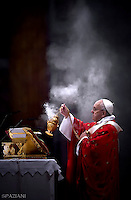 Pope Francis during holy mass of Pentecost Sunday in Saint Peter's Basilica Vatican.15 May 2016