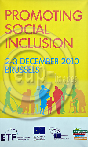 """BRUSSELS - BELGIUM - 02 DECEMBER 2010 -- European Training Foundation - ETF - Conference """"European Year for Combating Poverty and Social Exclusion"""" at the European Parliament (EP). -- PHOTO: Juha ROININEN / EUP-Images."""