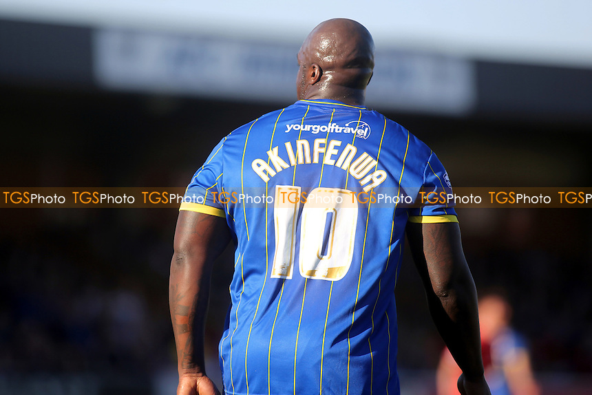 Adebayo Akinfenwa of AFC Wimbledon - AFC Wimbledon vs York City - Sky Bet League Two Football at Kingsmeadow Stadium, Kingston upon Thames, Surrey - 07/03/15 - MANDATORY CREDIT: Paul Dennis/TGSPHOTO - Self billing applies where appropriate - contact@tgsphoto.co.uk - NO UNPAID USE
