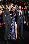 "ROBERT PATTINSON, KRISTEN STEWART, TAYLOR LAUTNER. World Premiere of Summit Entertainment's ""The Twilight Saga: Breaking Dawn - Part 1,"" at the Nokia Theatre at LA Live. Los Angeles, CA USA. November 14, 2011.©CelphImage"
