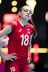 Wing spiker Kseniia Parubets of Russia looks during the FIVB Volleyball World Grand Prix - Hong Kong 2017 match between Japan and Russia on 23 July 2017, in Hong Kong, China. Photo by Yu Chun Christopher Wong / Power Sport Images