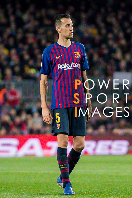 Sergio Busquets Burgos of FC Barcelona looks on during the La Liga 2018-19 match between FC Barcelona and RC Celta de Vigo at Camp Nou on 22 December 2018 in Barcelona, Spain. Photo by Vicens Gimenez / Power Sport Images