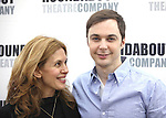 Jessica Hecht & Jim Parsons.attending the Meet & Greet for the Roundabout Theatre Company's Broadway Production of 'Harvey' at their Rehearsal Studios in New York City. 4/20/2012 © Walter McBride/WM Photography .