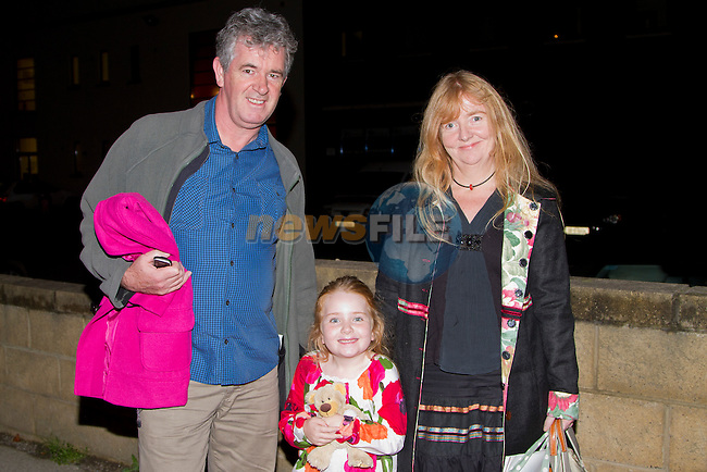 Out to see the Nuttcracker ballet; Killian Murray, Emily Murray and Julie Christie..Picture: Shane Maguire / www.newsfile.ie
