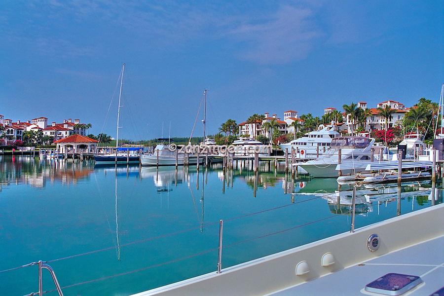 Fisher Island, Miami, FL, Marina, Yachts, luxury condos, lifestyle, rich, famous; Intracoastal Waterway, Miami Florida, USA; Atlantic Coast,
