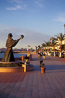 Strollers on the Malecon seaside promenade in the city of La Paz, Baja California Sur, Mexico