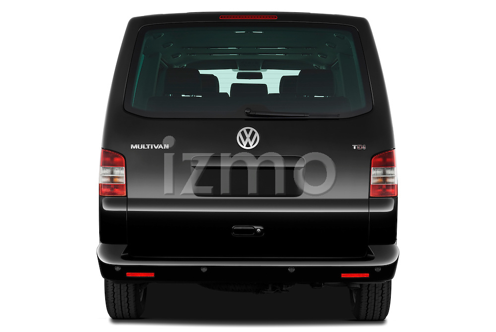 Straight rear view of a 2010 Volkswagen Multivan Shuttle Comfortline Minivan