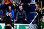 03.12.2017, Halle Berg Fidel, Muenster<br />Volleyball, Bundesliga Frauen, Normalrunde, USC MŸnster / Muenster vs. Rote Raben Vilsbiburg<br /><br />Angriff Lena Stigrot (#14 Vilsbiburg)<br /><br />  Foto &copy; nordphoto / Kurth
