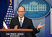 United States Secretary of Labor Thomas E. Perez makes remarks on the minimum wage to the press at the White House, February 12, 2014, in Washington, DC. Later, President Barack Obama will sign an Executive Order requiring federal contracts to pay a minimum wage of $10.10, starting in 2015.    <br /> Credit: Mike Theiler / Pool via CNP