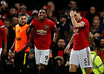 Anthony Martial of Manchester United celebrates scoring the third goal during the Premier League match at Old Trafford, Manchester. Picture date: 11th January 2020. Picture credit should read: James Wilson/Sportimage
