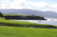 The 4th hole at Pebble Beach Golf Links during Saturday's Round 3 of the 2017 AT&amp;T Pebble Beach Pro-Am held over 3 courses, Pebble Beach, Spyglass Hill and Monterey Penninsula Country Club, Monterey, California, USA. 11th February 2017.<br /> Picture: Eoin Clarke | Golffile<br /> <br /> <br /> All photos usage must carry mandatory copyright credit (&copy; Golffile | Eoin Clarke)