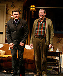 Alec Baldwin and Richard Easton during the Curtain Call for The Opening Night Performance of The Roundabout Theatre Company's Production of  ENTERTAINING MR. SLOANE at the Laura Pels Theatre in New York City.<br />