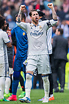 Sergio Ramos of Real Madrid celebrates during their La Liga match between Real Madrid and Valencia CF at the Santiago Bernabeu Stadium on 29 April 2017 in Madrid, Spain. Photo by Diego Gonzalez Souto / Power Sport Images