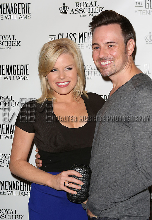 Megan Hilty and Brian Gallagher  attends the Broadway Opening Night Performance of 'The Glass Menagerie' at the Booth Theatre in New York City on September 16, 2013.