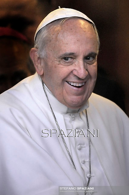 Pope Francis during  pastoral visit at the parish of San Michele Arcangelo a Pietralata in Rome. February 8, 2015