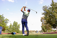 Jordan Smith (ENG) on the 13th tee during the preview to the DP World Tour Championship, Jumeirah Golf Estates, Dubai, United Arab Emirates. 19/11/2019<br /> Picture: Golffile | Fran Caffrey<br /> <br /> <br /> All photo usage must carry mandatory copyright credit (© Golffile | Fran Caffrey)