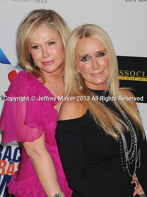 CENTURY CITY, CA- MAY 03: Kathy Hilton (L) and Kim Richards  arrive at the 20th Annual Race To Erase MS Gala 'Love To Erase MS' at the Hyatt Regency Century Plaza on May 3, 2013 in Century City, California.