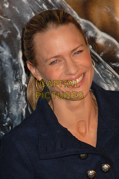 "ROBIN WRIGHT PENN.""Beowulf"" Los Angeles Premiere at Mann's Village Theatre, Westwood, California, USA..November 5th, 2007.headshot portrait gold hoop earrings .CAP/ADM/BP.©Byron Purvis/AdMedia/Capital Pictures."