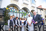 River Island Hotel Castleisland Pictured L-r Maureen Cronin, Louise O'Connor, Breda Flaherty, Eileen Reidy, Edward Delatorre, Geraldine Hickey, Tadhg Corkery (Head Chef), Willie Buckley (General Manager of River Island Hotel)