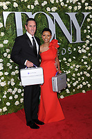 www.acepixs.com<br /> June 11, 2017  New York City<br /> <br /> Sean Denham and Wendy Morton-Huddleston attending the 71st Annual Tony Awards arrivals on June 11, 2017 in New York City.<br /> <br /> Credit: Kristin Callahan/ACE Pictures<br /> <br /> <br /> Tel: 646 769 0430<br /> Email: info@acepixs.com
