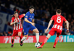 Alvaro Morata of Chelsea surges forward during the Champions League Group C match at the Stamford Bridge, London. Picture date: December 5th 2017. Picture credit should read: David Klein/Sportimage
