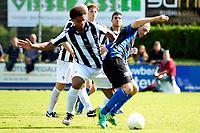 ASSEN - Voetbal - ACV - Hercules, KNVB beker, seizoen 2017-2018, 19-08-2017, Haaye Feenstra wordt vastgehouden door Tyrone Fonville