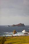 A view of Alau Island off the East coast of Maui, Hawaii.