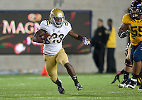October 6th, 2012: UCLA's Johnathan Franklin runs for some yardage during a game against California at Memorial Stadium, Berkeley, Ca    California defeated UCLA 43 - 17