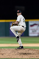 Visalia Rawhide relief pitcher Ryan Fritze (34) during a California League game against the Rancho Cucamonga Quakes on April 8, 2019 in Visalia, California. Rancho Cucamonga defeated Visalia 4-1. (Zachary Lucy/Four Seam Images)