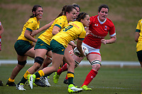 Cobie-Jane Morgan looks to pass during the 2017 International Women's Rugby Series rugby match between Canada and Australia Wallaroos at Smallbone Park in Rotorua, New Zealand on Saturday, 17 June 2017. Photo: Dave Lintott / lintottphoto.co.nz
