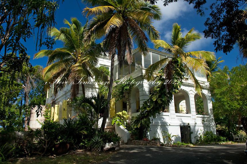 Sprat Hall great house circa 1650.St Croix.US Virgin Islands