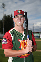 Bret Boswell (13) of the Boise Hawks poses for a photo before a game against the Everett AquaSox at Everett Memorial Stadium on July 20, 2017 in Everett, Washington. Everett defeated Boise, 13-11. (Larry Goren/Four Seam Images)