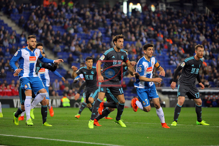 League Santander 2016/2017. Game: 22.<br /> RCD Espanyol vs Real Sociedad: 1-2.<br /> Xabi Prieto.