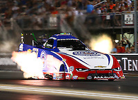 Jun 17, 2016; Bristol, TN, USA; NHRA funny car driver Robert Hight during qualifying for the Thunder Valley Nationals at Bristol Dragway. Mandatory Credit: Mark J. Rebilas-USA TODAY Sports