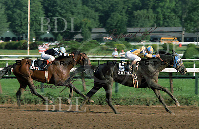 Play Fellow (On the Sly) wins the 1983 Travers over Slew o' Gold.