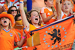 The Hague, Netherlands, June 06: Dutch fans celebrate during the field hockey group match (Men - Group B) between Germany and The Netherlands on June 6, 2014 during the World Cup 2014 at Kyocera Stadium in The Hague, Netherlands. Final score 0-1 (0-1) (Photo by Dirk Markgraf / www.265-images.com) *** Local caption ***