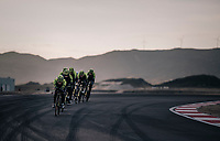 TTT training at the Circuito de Almeria Fans with the mighty Sierra Nevada as a backdrop<br /> <br /> Michelton-Scott training camp in Almeria, Spain<br /> february 2018