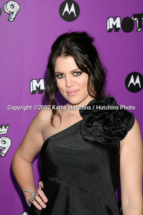 "Khloe Kardashian.Motorola 9 Party.""The Lot"".Los Angeles,  CA.November 8, 2007.©2007 Kathy Hutchins / Hutchins Photo...               ."