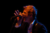 Spoon perform at Red Rocks Amphitheater in Morrison, Colo., Friday, Aug. 12, 2005...PHOTOS/ MATT NAGER