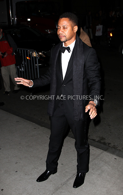 WWW.ACEPIXS.COM....February 6 2013, New york City....Cuba Gooding JR arriving at the amfAR New York Gala To Kick Off Fall 2013 Fashion Week at Cipriani Wall Street on February 6, 2013 in New York City.....By Line: Zelig Shaul/ACE Pictures......ACE Pictures, Inc...tel: 646 769 0430..Email: info@acepixs.com..www.acepixs.com
