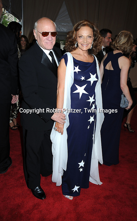 Barry Diller and Diane Von Furstenberg arriving at The Costume Institute Gala Benefit celebrating American Woman: Fashioning a National Identity at The Metropolitan Museum of Art on May 3, 2010 in New York City.