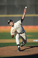 Wake Forest Demon Deacons relief pitcher Ryan Morse (41) in action against the Richmond Spiders at David F. Couch Ballpark on March 6, 2016 in Winston-Salem, North Carolina.  The Demon Deacons defeated the Spiders 17-4.  (Brian Westerholt/Four Seam Images)