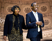 Dr. Ben Carson, Professor Emeritus, Johns Hopkins School of Medicine, right, with his wife Candy, arrives to speaks at the Conservative Political Action Conference (CPAC) at the Gaylord National at National Harbor, Maryland on Saturday, March 8, 2014.<br /> Credit: Ron Sachs / CNP