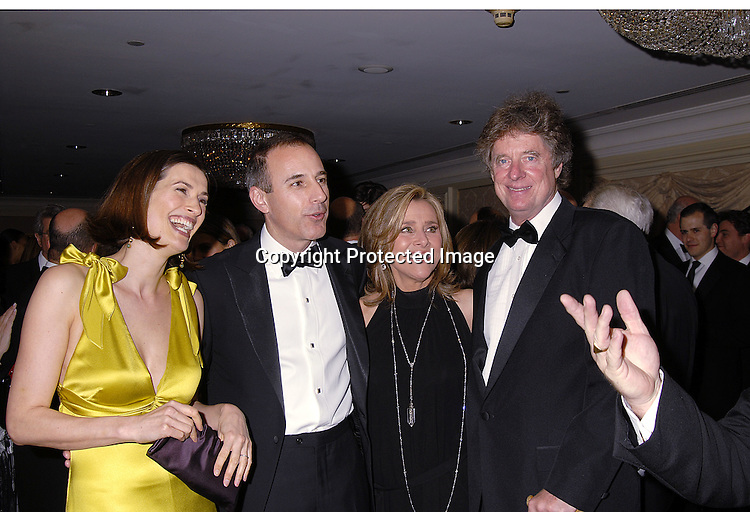 Annette and Matt Lauer and Meredith Vieira and husband ..Richard Cohen..at The Museum of The Moving Image Dinner Honoring ..Matt Lauer, co-anchor of NBC News' Today and Debra Lee, Chairman and ECO of BET Networks on April 26, 2007 at The St Regis Hotel. ..Robin Platzer, Twin Images
